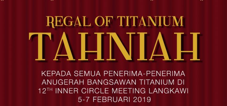 Majlis Anugerah Bangsawan Titanium 2019