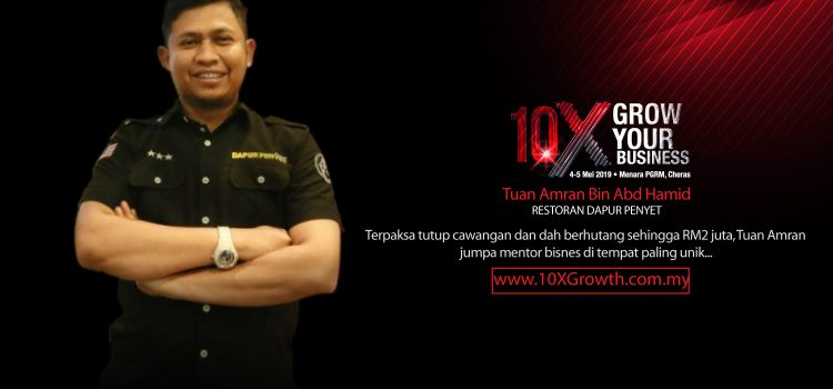 Terpaksa tutup cawangan dan dah berhutang sehingga RM2 juta, Tuan Amran jumpa mentor bisnesnya di tempat paling unik…