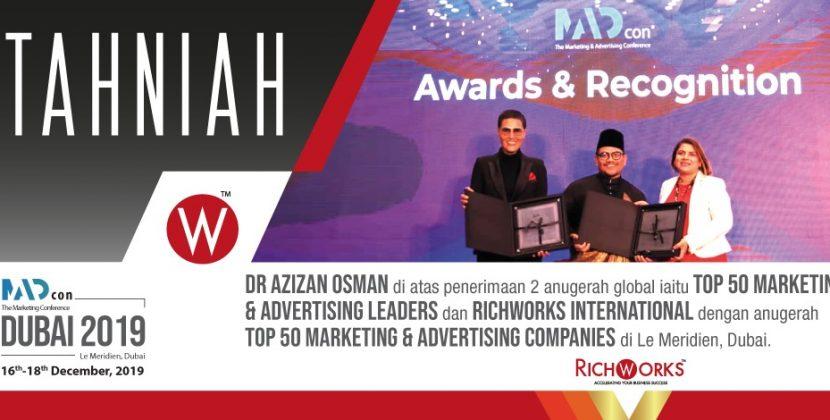2 Anugerah Antarabangsa Untuk RichWorks Dan Dr Azizan Osman